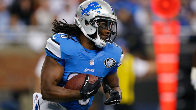 Joique Bell #35 of the Detroit Lions.  (Photo by Leon Halip/Getty Images)