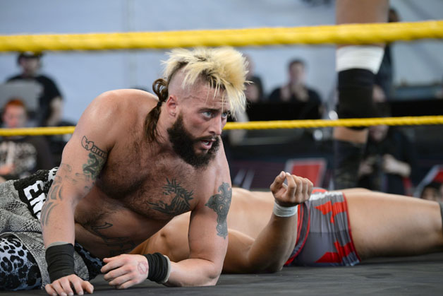 WWE Nxt wrestler Enzo Amore performs at Gibson Ranch County Park on October 24, 2015 in Sacramento, California.