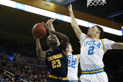 Lonzo Ball #2 of the UCLA Bruins attempts to block Jabari Bird #23 of the California Golden Bears at Pauley Pavilion during their game against the Califorinia Golden Bears on January 5, 2017 in Los Angeles, California.