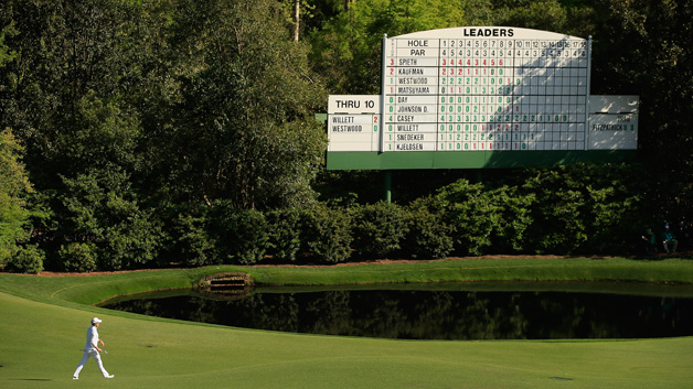 Danny Willett of England walks on the 11th hole during the final round of the 2016 Masters Tournament at the Augusta National Golf Club on April 10, 2016 in Augusta, Georgia.