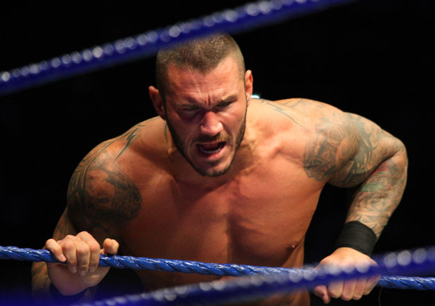 World Heavyweight Champion Randy Orton during the WWE Smackdown Live Tour at Westridge Park Tennis Stadium on July 08, 2011 in Durban, South Africa.