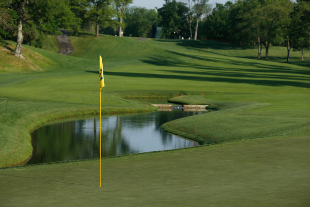 A general view of 14th hole during the second round of the Memorial Tournament presented by Nationwide Insurance at Muirfield Village Golf Club on May 31, 2013 in Dublin, Ohio.