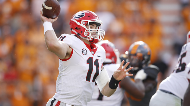 Jake Fromm #11 of the Georgia Bulldogs.