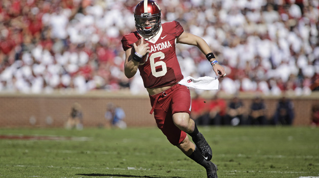 Quarterback Baker Mayfield #6 of the Oklahoma Sooners.