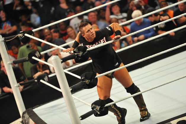 The Miz attends the WWE Monday Night Raw Supershow Halloween event at the Philips Arena on October 31, 2011 in Atlanta, Georgia.