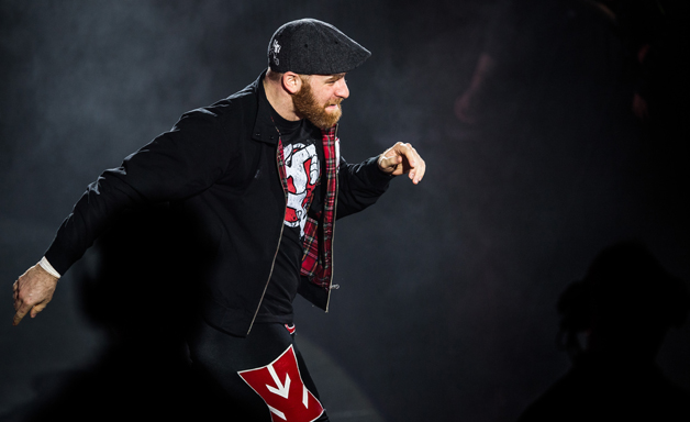 Sami Zayn arrives during to the WWE Live Duesseldorf event at ISS Dome on February 22, 2017 in Duesseldorf, Germany.
