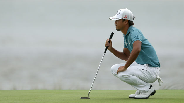 Satoshi Kodaira of Japan reads the 18th green during the final round the 2018 RBC Heritage at Harbour Town Golf Links on April 15, 2018 in Hilton Head Island, South Carolina.