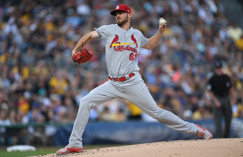 Austin Gomber #68 of the St. Louis Cardinals delivers a pitch in the first inning during the game against the Pittsburgh Pirates at PNC Park on August 4, 2018 in Pittsburgh, Pennsylvania.