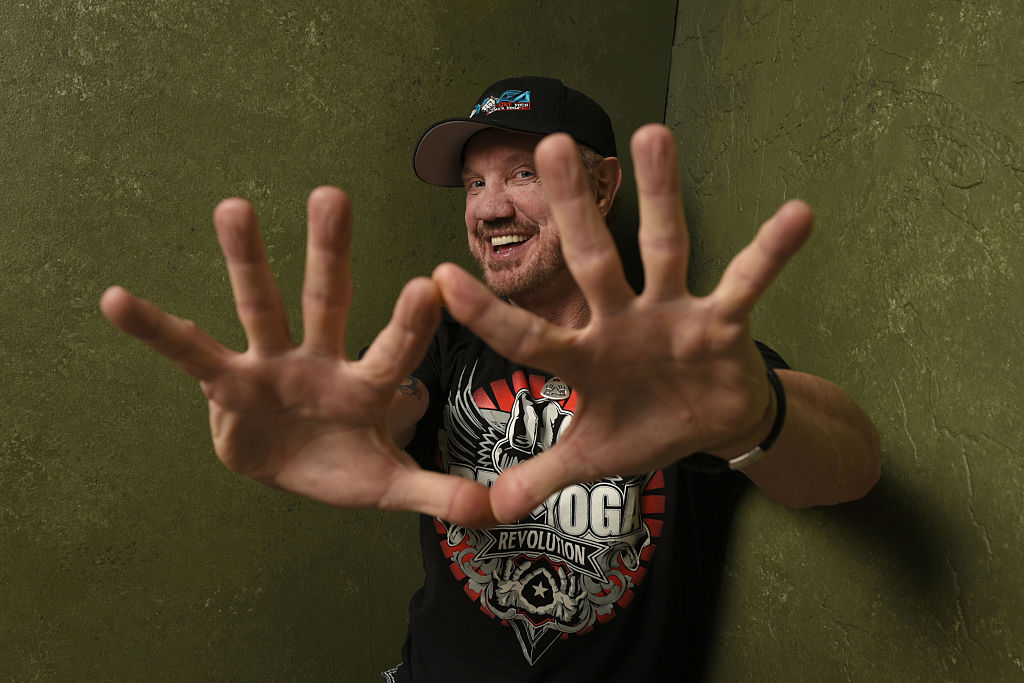 """Wrestler Diamond Dallas Page from """"The Resurrection of Jake The Snake Roberts"""" poses for a portrait at the Village at the Lift Presented by McDonald's McCafe during the 2015 Sundance Film Festival on January 23, 2015 in Park City, Utah."""