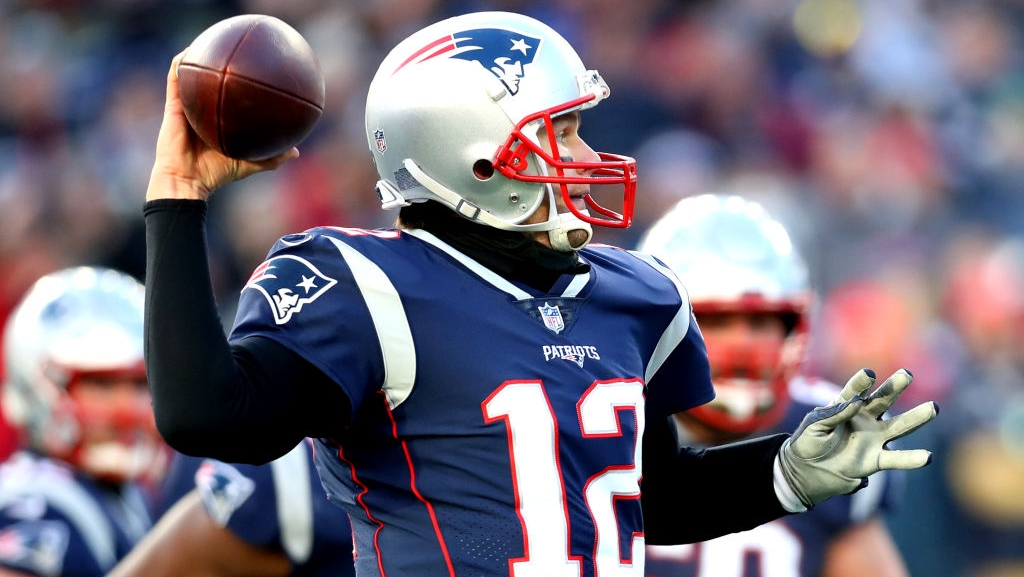 Tom Brady #12 of the New England Patriots throws during the third quarter in the AFC Divisional Playoff Game against the Los Angeles Chargers at Gillette Stadium on January 13, 2019 in Foxborough, Massachusetts.