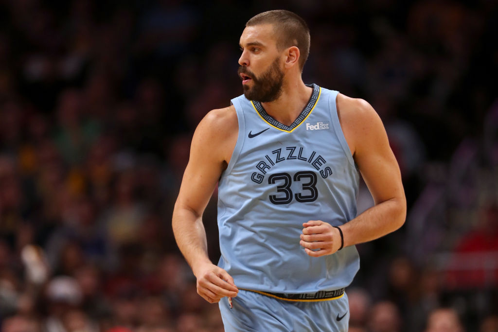 Marc Gasol #33 of the Memphis Grizzlies plays the Denver Nuggets at the Pepsi Center on December 10, 2018 in Denver, Colorado.