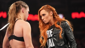Becky Lynch and Ronda Rousey WWE RAW