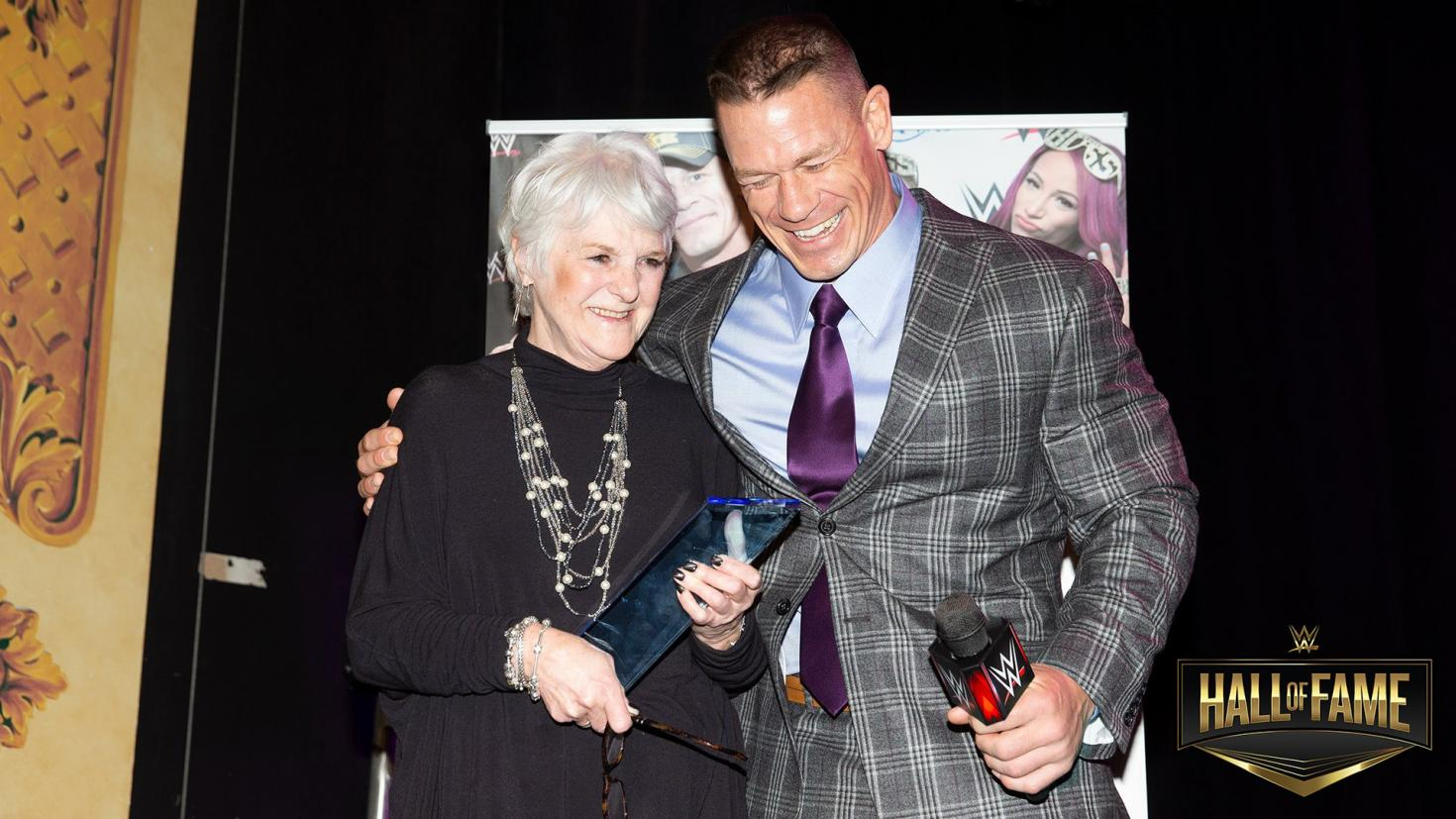 Sue Aithison and Jon Cena WWE Hall of Fame