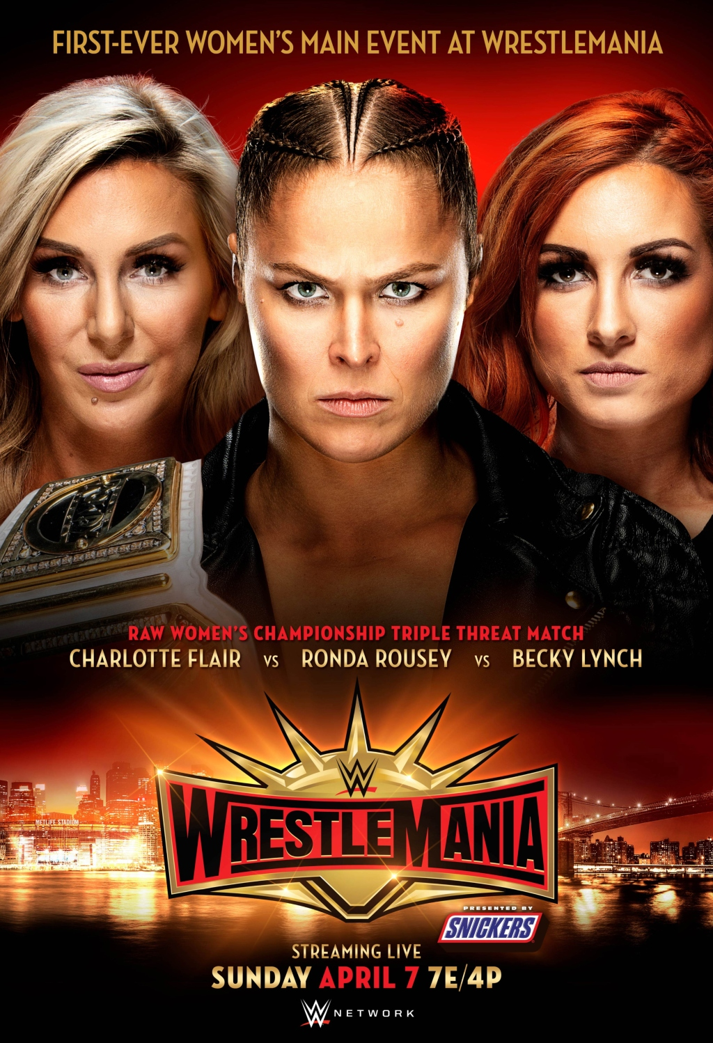 WrestleMania 35 Charlotte Flair, Ronda Rousey, Becky Lynch