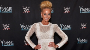 WWE Ambassador Dana Warrior appears on the red carpet of the WWE Mae Young Classic on September 12, 2017 in Las Vegas, Nevada.