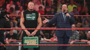 Brock Lesnar, Paul Heyman WWE Money in the Bank