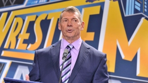 Vince McMahon attends a press conference to announce that WWE Wrestlemania 29 will be held at MetLife Stadium in 2013 at MetLife Stadium on February 16, 2012 in East Rutherford, New Jersey.