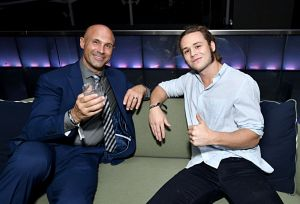 Christopher Daniels and Jack Perry aka Jungle Boy attend WarnerMedia's A Midsummer Daydream TCA afterparty at Spring Place on July 24, 2019 in Beverly Hills, California.